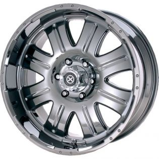 American Racing 5 on 5 lug 17x8.5 Black Chrome Punisher Wheel - 108078573 (set of 4)