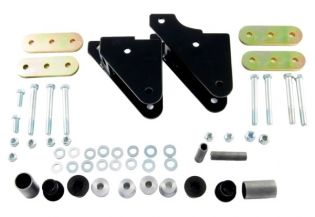 YJ 1987-1995 Jeep Shackle Reversal System (Through-Frame Mounting) by M.O.R.E.