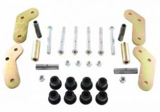 """YJ 1987-1995 Jeep - 4.75"""" center to center Boomerang Shackle 9/16"""" Bolts by M.O.R.E."""