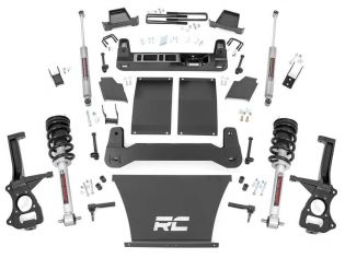 """4"""" 2019-2021 Chevy Silverado 1500 Trail Boss 4wd Lift Kit (w/lifted struts) by Rough Country"""