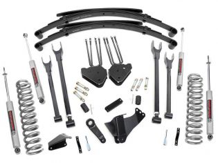 """8"""" 2005-2007 Ford F250/F350 Diesel 4WD 4-Link Lift Kit w/ Leafs by Rough Country"""