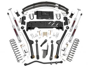 """4.5"""" 1984-2001 Jeep Cherokee XJ 4WD Long Arm Lift Kit by Rough Country (w/rear leaf springs)"""