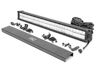 """30"""" Cree LED Light Bar - (Dual Row   Chrome Series w/ Cool White DRL) by Rough Country"""