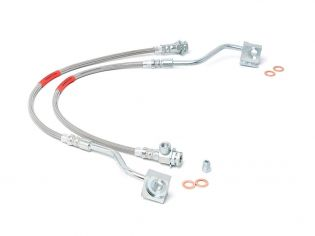 """F100 1980-1983 Ford 4wd (w/4-6"""" Lift) - Front Brake Line Kit by Rough Country"""