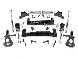 """7"""" 2014-2018 Chevy Silverado 1500 2wd Lift Kit (w/lifted struts) by Rough Country"""