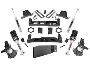 """7.5"""" 2007-2013 Chevy Silverado 1500 4wd Lift Kit (w/lifted struts) by Rough Country"""