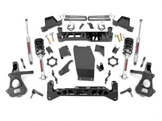 """7"""" 2014-2018 Chevy Silverado 1500 4WD Lift Kit (w/knuckles & lifted struts) by Rough Country"""