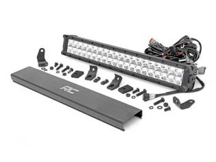 """20"""" Cree LED Light Bar - (Dual Row   Chrome Series w/ Cool White DRL) by Rough Country"""