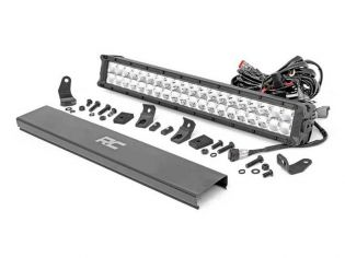 """20"""" Cree LED Light Bar - (Dual Row   Chrome Series w/ Amber DRL) by Rough Country"""