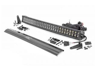 """30"""" Cree LED Light Bar - (Dual Row   Black Series w/ Amber DRL) by Rough Country"""