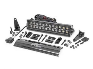 """12"""" Cree LED Light Bar - (Dual Row   Black Series w/ Cool White DRL) by Rough Country"""