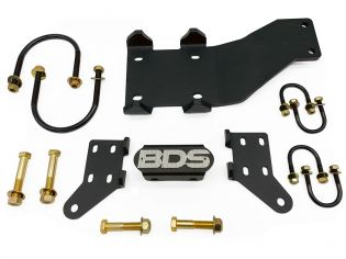 F250/F350 2005-2021 Ford 4WD - Dual (Inline) Steering Stabilizer Bracket by BDS Suspension