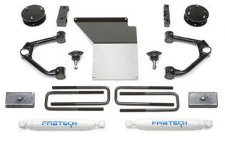 """4"""" 2007-2018 Chevy Silverado 1500 4WD (w/cast steel factory arms) Budget Lift Kit by Fabtech"""