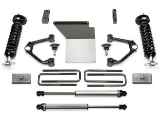 """4"""" 2007-2018 Chevy Silverado 1500 4WD (w/cast steel factory arms) Budget Lift Kit w/ DirtLogics by Fabtech"""