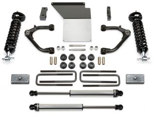 """4"""" 2014-2018 Chevy Silverado 1500 4wd (w/cast steel factory arms) CoilOver Lift Kit w/ DirtLogics by Fabtech"""