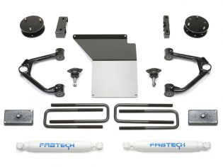 """4"""" 2014-2018 Chevy Silverado 1500 4WD (w/aluminum or stamped steel factory arms) Budget Lift Kit by Fabtech"""