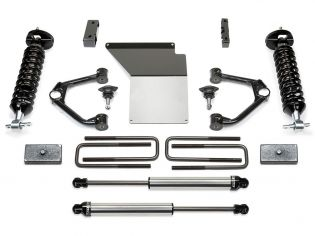 """4"""" 2014-2018 Chevy Silverado 1500 4WD (w/aluminum or stamped steel factory arms) Budget Lift Kit w/ DirtLogics by Fabtech"""