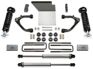 """4"""" 2014-2018 Chevy Silverado 1500 4WD (w/aluminum or stamped steel factory arms) Performance Lift Kit w/ DirtLogic Shocks by Fabtech"""
