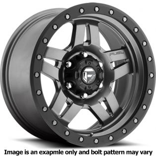 Anza Series D558 Matte Gun Metal Wheel D55815806537 by Fuel