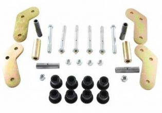 "YJ 1987-1995 Jeep - 5.25"" center to center Boomerang Shackle 9/16"" Bolts by M.O.R.E."