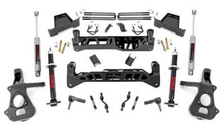 "7"" 2014-2018 Chevy Silverado 1500 2WD Strut Upgrade Lift Kit by Rough Country"